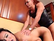 Cute blonde shemale Carla Novaes solo plays with a sex toy