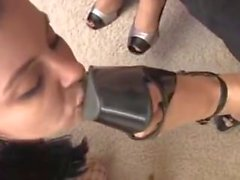 Sklave Mädchen lecken Herrin Füße