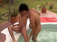 Latinos Fucking Bareback, The Pool