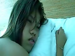 Filipina girl fingered and ass plugged