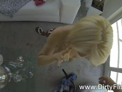Jizzcovered euro cutie pov doggystyled