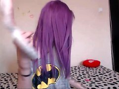 Teen redhead does a striptease