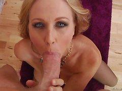 Big breasted MILF Julia Ann gives head pov