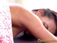DaneJones Creampie for busty brunette cutie