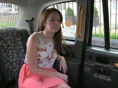 Squirting british babe fucked by taxi driver