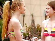 Teens Avril Hall n Laura Brooks make out