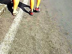Turkish teen bitch thong ass walk