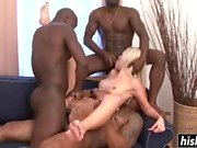 Black dudes fucking a sexy blonde chick