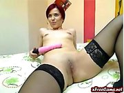Big boob amateur rides sybian toy to orgasm