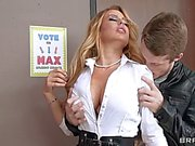 big dick screws busty blonde teacher