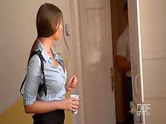 Полиция женщина получает двойного проникновения крайней места происшествия