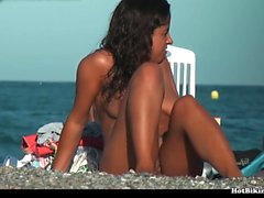 Hot Nudist Teens Nackt im Strand
