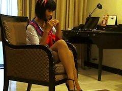Reizvolles Thai modellieren Xanny birgt im Pantyhose Als Auch sexy Kostüme