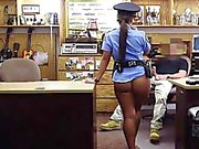 Latina pawnshop amateur with booty cocksucking