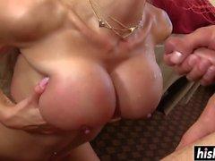 Pretty Nina satisfies a long dick