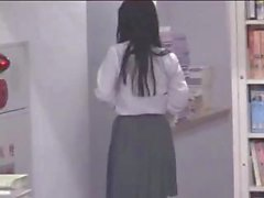Japanese girl gets accosted in the library and gets fucked