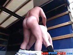 Vollweiber Jugendlich Pleasuring Alter Mann