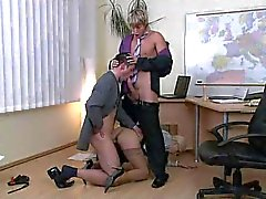 Euro bi fuck at the office