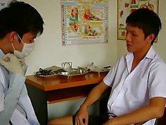 Horny Gay Medical Examiner Sucking His Patient