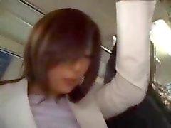 Sexo público japonesa en un autobús de