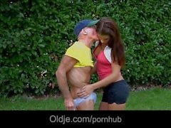 Fantastic old on young anal penetration