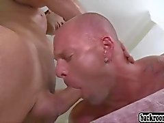 two ripped guys fuck their asses