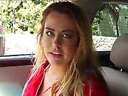 Corinna Blake masturbates n sucks in car