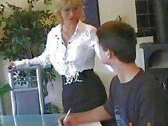 Nadja Summer - Hot German Mom Teaches Young Boy