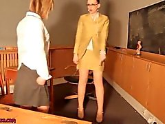 Teen schoolgirl punish by her MAture teacher and lick her nylon shoe Class5