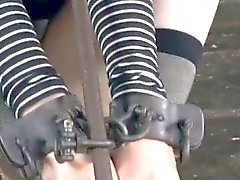 Mouth gagged skank being humiliated