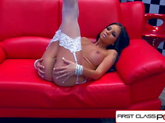 FirstClassPOV - Raven Bay take a monster cock in her throat