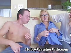 Busty Babe Fucks Young Guy