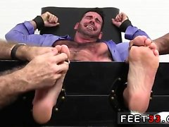 Smooth boy feet soles gay Billy Santoro Ticked Naked