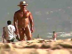 mignon de caporal gaie WHT d'enlèvement grand type des noir de sur la plage de nudité