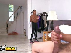 BANGBROS - Hot Black Maid With Big Tits Anya Ivy Is A Tough Nut To Crack