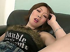 Squirting honey Rio Kagawa has her pussy toyed until she