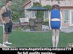 De aficionados asombroso la formación adolescente cheerleader pelirrojo exterior