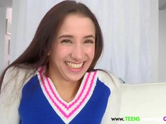 Petite teen facialized by bigcock