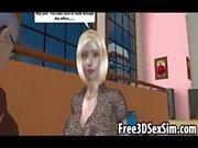 Tasty 3D cartoon blonde hottie does some dirty talk