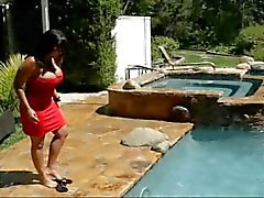Ava Devine fucking anal near the pool