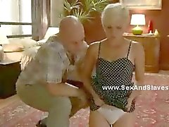 Blonde gets her ass fucked by a male and female doctor that keep her in a straight jacket