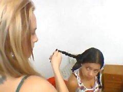 Brazil Facesitting Erica contra el Mallerwom