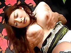 Japanese Babe Gets Her Fuzzy Pussy Licked