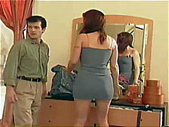 Blond and red doing dildo and guy