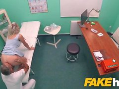 Fake Hospital Fast fucking gives blonde big tits Brit multiple orgasms