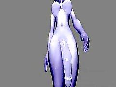 Futanari 3D omvända Blowjob sammanställnings Hentai