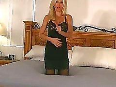 Amber Lynn tranen nylon panty