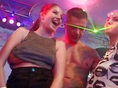 Glam euro women tasting strippers cum