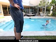 CFNMTEEN - Pale Ginger Teen Fucked By Swimming Coach
