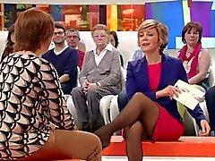 Belgian television hostess wonderfull legs - 2 part 1